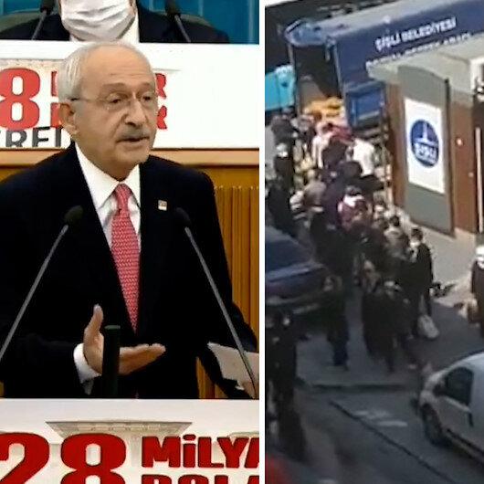 Kılıçdaroğlunun şu akla bakın diyerek eleştirdiği patates dağıtımını bu kez Şişli Belediyesi yaptı