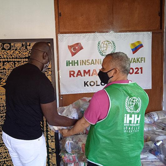"""""""IHH"""" التركية توزع مساعدات رمضانية على مسلمين في كولومبيا"""