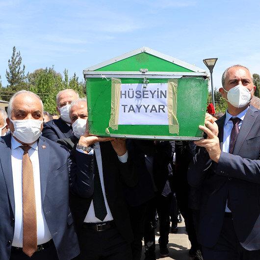 Şamil Tayyarın babası son yolculuğuna uğurlandı