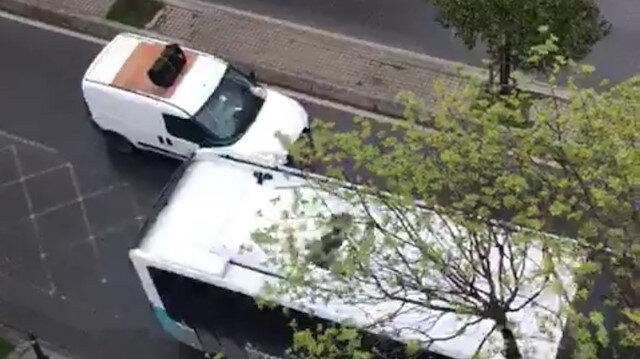 Pendik'te kaybolan papağanını anons yaparak sokak sokak aradı