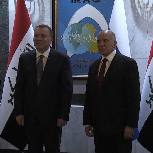 Rusya Başbakan Yardımcısı Yuriy Borisov, Irak Dışişleri Bakanı Fuad Hüseyin ile bir araya geldi