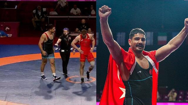 Son saniyeleri gergin anlara sahne olan müsabakada Taha Akgül 8. kez Avrupa Şampiyonu oldu