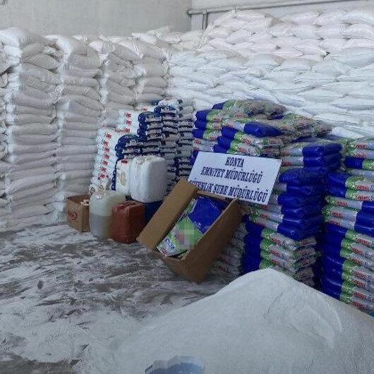 Konyada polis ekipleri tarafından yapılan operasyonda 34 ton 185 kilo sahte üretim toz deterjan ele geçirildi