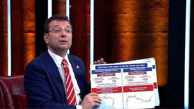 İBB Başkanı İmamoğlunun verdiği metro ilerleme bilgileri asılsız çıktı