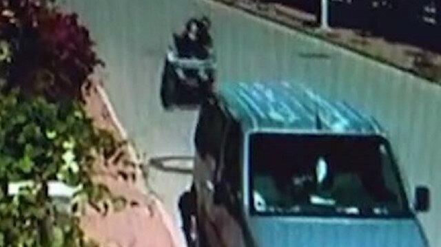 Antalya'da ATV sürücüsü park halindeki araca çarpıp camından içeri girdi