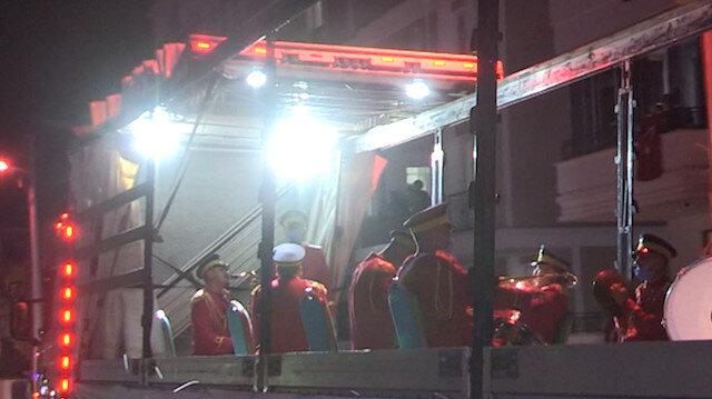 Tokat'ta TIR üzerinde bandolu Ramazan eğlencesi