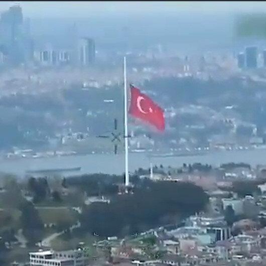 Bakan Soylu dünyanın en büyük Türk bayrağını paylaştı, Dalgalandığın yerde ne korku ne keder...