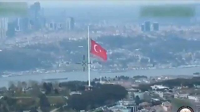 Bakan Soylu dünyanın en büyük Türk bayrağını paylaştı,