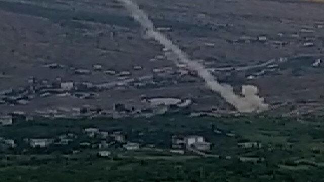 Kuzey Irak'taki terör hedefleri Obüs'lerle yerle bir edildi