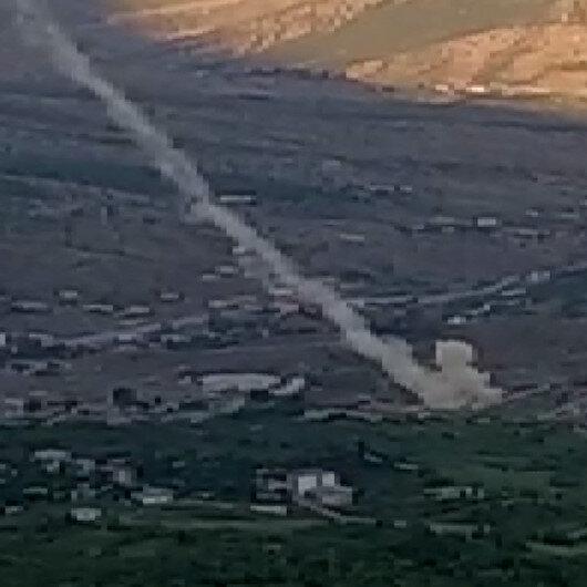 Kuzey Iraktaki terör hedefleri Obüslerle yerle bir edildi