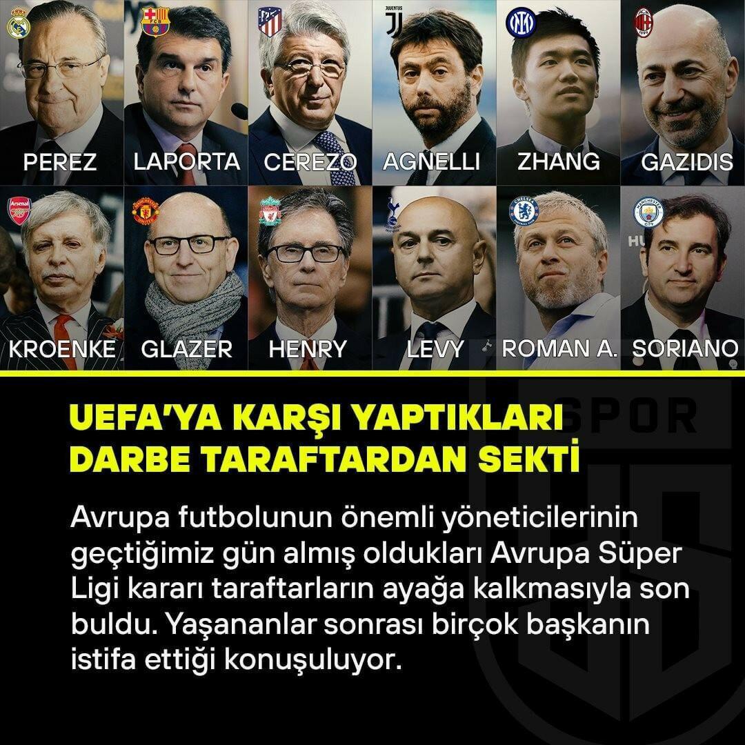 Avrupa Süper Ligi projesi başlamadan dağıldı.