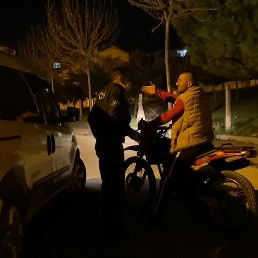Polisten kaçan sürücü motosikleti bozulunca yakayı ele verdi