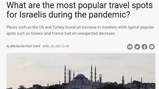 İsrailliler'in tatil için ilk tercihi: Türkiye ve ABD'den yana kullanıyorlar