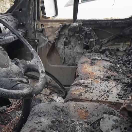 Osmaniyede park halindeki minibüste çıkan yangın hasara sebep oldu