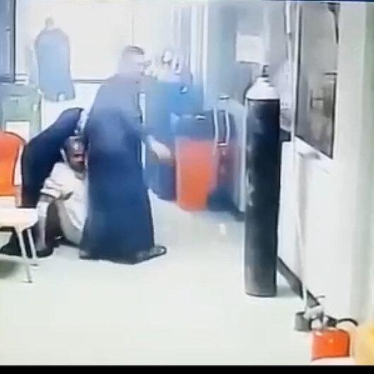 Bağdatta 40a yakın koronavirüs hastasının öldüğü hastanede yangının çıkma anı böyle kaydedildi