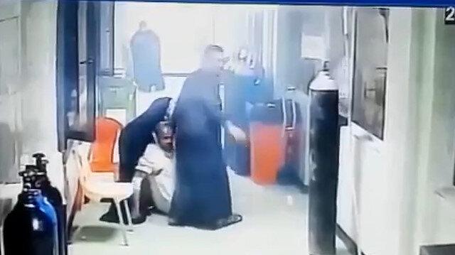 Bağdat'ta 40'a yakın koronavirüs hastasının öldüğü hastanede yangının çıkma anı böyle kaydedildi