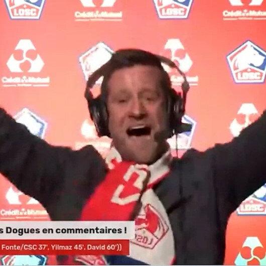 Burak Yılmazın Lillee galibiyeti getiren golü Fransız spikeri çıldırttı