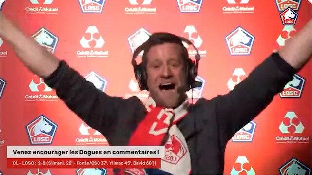 Burak Yılmaz'ın Lille'e galibiyeti getiren golü Fransız spikeri çıldırttı