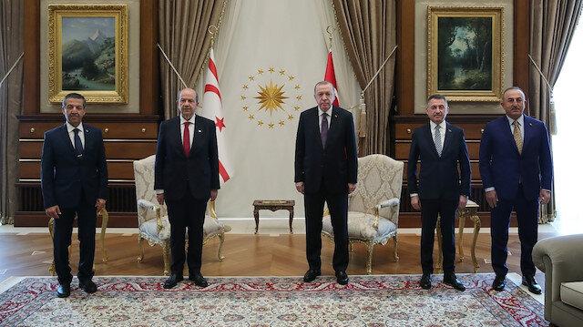Cumhurbaşkanı Erdoğan, KKTC Cumhurbaşkanı Ersin Tatar ile görüştü