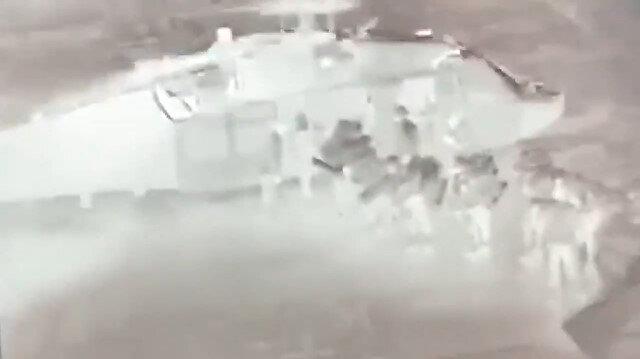 Irak'ın kuzeyindeki hava hücum harekatlarından yeni görüntüler