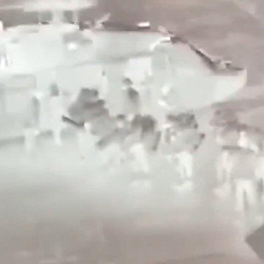 Irakın kuzeyindeki hava hücum harekatlarından yeni görüntüler