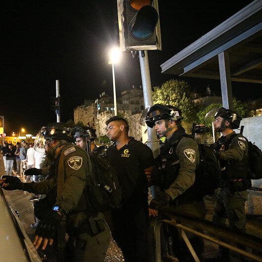 İşgalci İsrail güçleri Kudüs ve Batı Şeriada Filistinlilere saldırılarına devam ediyor