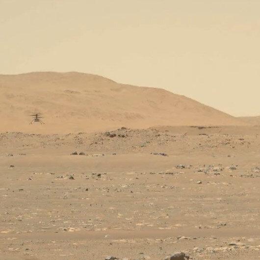 NASA, mini helikopter Ingenuitynin Mars uçuşuna ait yeni görüntü paylaştı