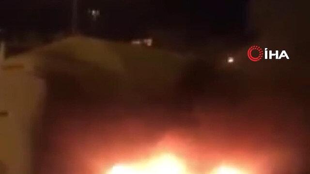 Zonguldak'ta seyir halindeki tanker alev aldı