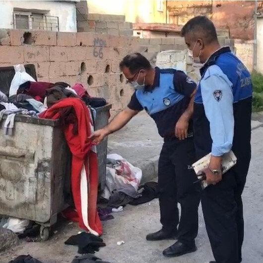 Mersin zabıtasının bayrak hassasiyeti: Türk bayrağını çöpte bırakmadılar