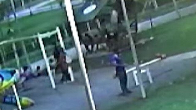 Şanlıurfa'da çocukların üzerine çıktığı kamelyanın çökme anı kamerada