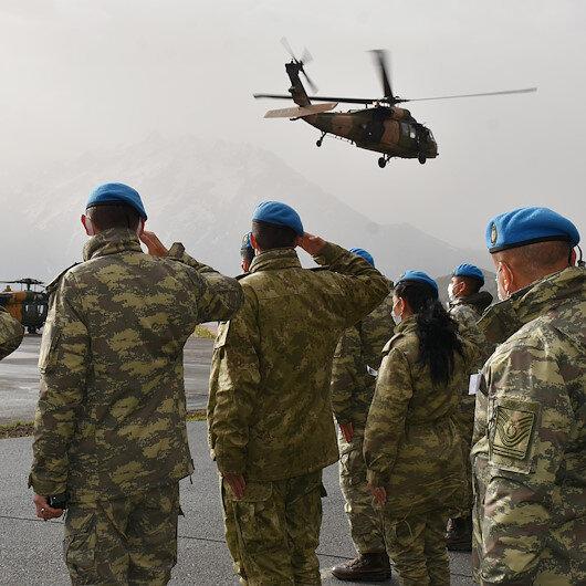 Pençe-Yıldırım Operasyonunda şehit olan Teğmen Mehmet Kıvık için Hakkaride tören düzenlendi