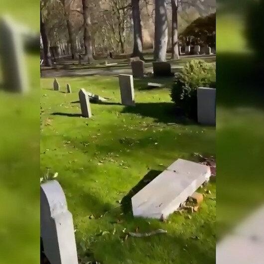 İsveçte Müslüman mezarlığına saldırı: 10 mezar taşını tahrip ettiler