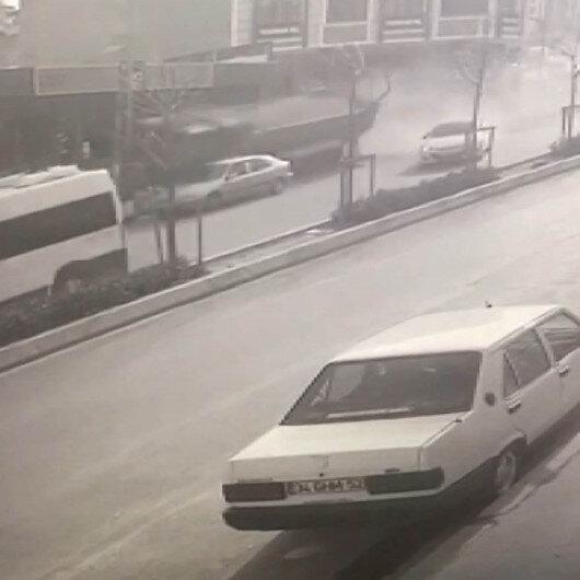 Esenyurtta hafriyat kamyonu dehşeti kamerada