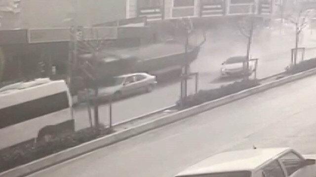 Esenyurt'ta hafriyat kamyonu dehşeti kamerada