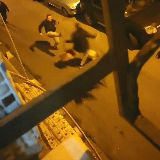 Şişli'de sahur vakti davulculara bıçaklı saldırı kamerada