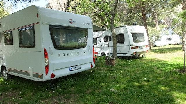 Karavanlara yoğun ilgi: Kapanma öncesi kamp alanları doldu