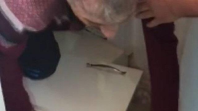 İzmir'de cinayet zanlısı mutfak dolabındaki gizli bölmede böyle yakalandı