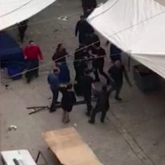 Esenyurt'ta pazar yerinde satırlı sopalı 'laf atma' kavgası