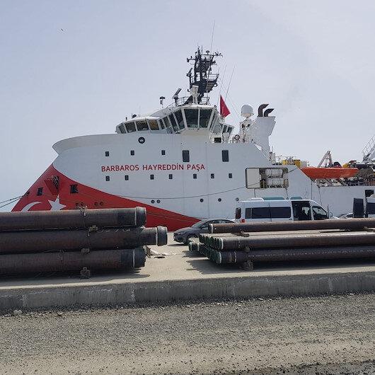 Barbaros Hayrettin Paşa sismik araştırma gemisi Filyos Limanına geldi