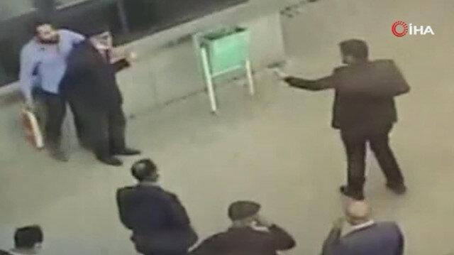 Vanda Başhekim cinayeti önledi: O anlar hastane kamerasına yansıdı