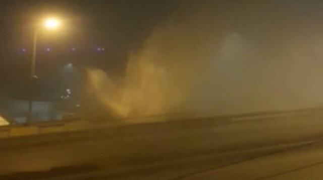 Karadeniz Sahilyolu'nda isale hattı patladı: Çöken yol trafiğe kapandı
