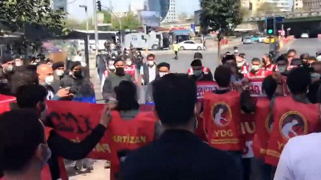 Tam kapanmaya rağmen Taksim'e yürümek isteyen gruba polis müdahale etti
