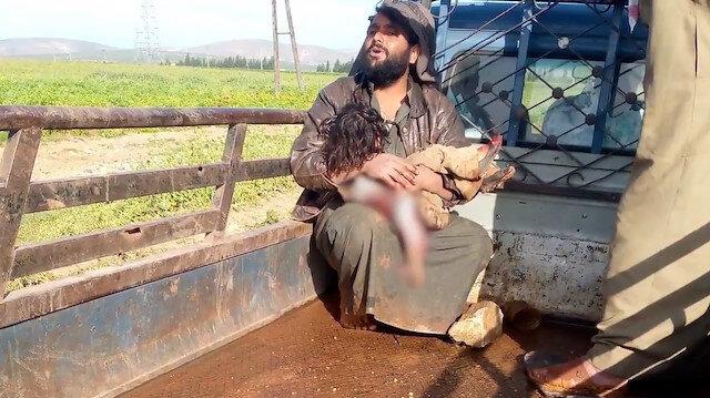 PKK/YPG'nin Afrin'de tarlaya attığı roketler küçük çocuğu hayattan kopardı