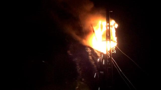Şanlıurfa'da elektrik trafosu alev topuna döndü
