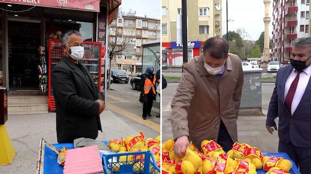 Sivas Valisi Ayhan, kısıtlamayı ihlal eden satıcının limonlarını satın alıp evine gönderdi