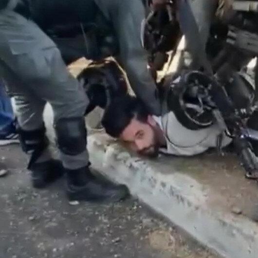 İşgalci İsrail güçleri, Kudüste 7 ailenin tahliyesini protesto eden Filistinlileri gözaltına aldı