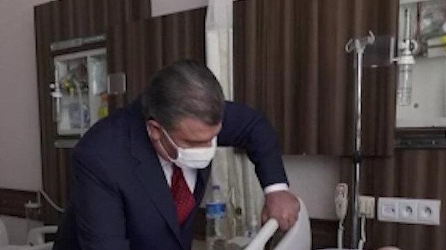 Sağlık Bakanı Fahrettin Koca, Edirne Sultan 1. Murat Devlet Hastanesi'nde tedavi gören hastaları ziyaret etti