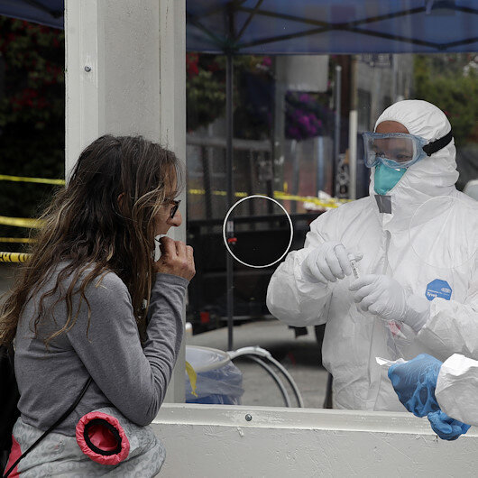 ABD'nin Los Angeles şehrinde 410 gün sonra koronavirüste bir ilk