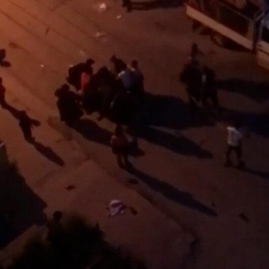 Ankarada kağıt toplayıcıların bölge kavgası kamerada