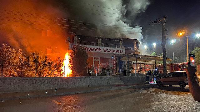 Kapalı olan restoranda korkutan patlama